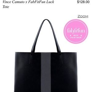 NWT Vince Camuto x FabFitFun Luck Tote in black
